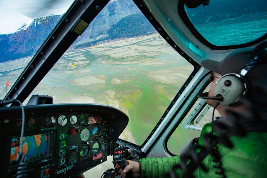 Heli Above Alaska